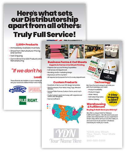 Overview of all services for distributor imprint